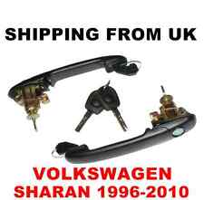 2 HANDLE + DOOR LOCK SET FRONT LEFT RIGHT 2 SAME KEYS for VW SHARAN MK1 42mm PIN