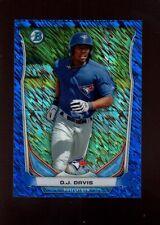 D.J. DAVIS 120/250 JAYS ROOKIE BLUE WAVE REFRACTOR RC SP 2014 BOWMAN CHROME MINI