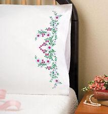 Embroidery Kit ~ Tobin Meadow Flowers PILLOWCASE PAIR #T232008 SALE!