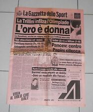 La Gazzetta dello sport OLIMPIADI BARCELLONA 1992 GIOVANNA TRILLINI 31 luglio