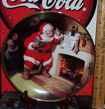 Franklin Mint Haddon sunbloom Santa für den kleinen Hunger zwischendurch Sammlerteller