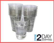 Disposable Graduated Clear Plastic Cup 20 8oz for Mixing Paint, Stain, Resin