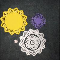 Stanzschablone Blume Kreis Weihnachten Neujahr Geburtstag Oster Karte Album DIY