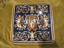 dessous de plat faience Gien Renaissance Bleu cachet 1960 (gien trivet)