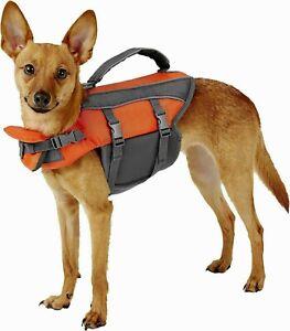 Top Paw Neoprene Reflective Dog Life Jacket Vest Small Orange Adjustable