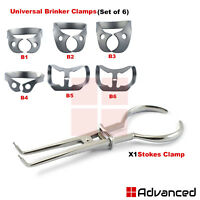 Dental Universal Brinker Clamps Rubber Dam Stokes Clamps Forceps Endodontic CE