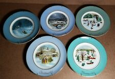 Avon Christmas Plates Collection (5 pc. w/ display holders)