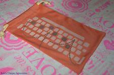 Fossil Orange Sunglasses Eye-Glasses Bag Pouch Soft Case For Storage DRAWSTRING