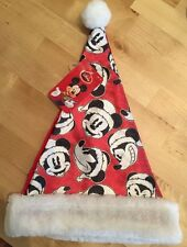 NEW! DISNEY Mickey Mouse Santa Christmas Xmas Hat Vintage Black/White Character