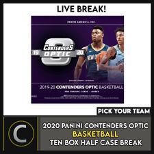 2019-20 PANINI CONTENDERS OPTIC 10 BOX (HALF CASE) BREAK #B496 - PICK YOUR TEAM