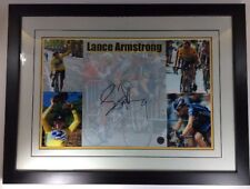 Lance Armstrong Signed And Certified Five Picture Collage Team US Postal Service