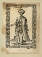 Greek merchant Greece 1570 de Nicolay wood engraved print ethnic cultural