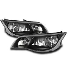 2003-2007 SATURN ION QUAD COUPE FRONT CRYSTAL HEADLIGHTS LAMP BLACK SET NEW PAIR