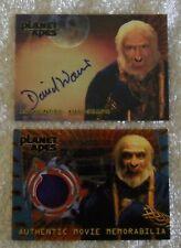Sandar Autograph & Costume Cards David Warner Planet of the Apes Memorabilia