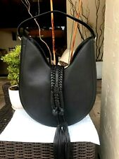NWT Altuzarra Ghianda Bag Large Black Pebbled Leather, Hobo Style
