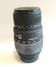 SIGMA 70-300mm F4-5.6 D DL MACRO for Nikon w/ Lens Hood from Japan