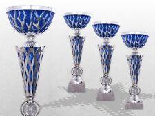 3er Pokalserie Pokale BIG BLUE THUNDER mit Gravur TOP Preis Pokale silber / blau