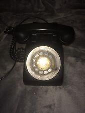 Vtg Western Electric L/M 500 Rotary Phone Black Bakelite Bell Systems