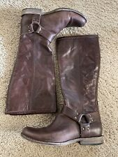 Ladies FRYE Phillip Harness Tall US 8.5 Brown Leather Riding Boots