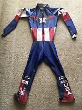 Spyder  US Ski Team World Cup Captain America Downhill GS Ski Race Suit Large