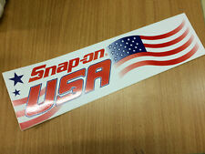 Snap-On Tools Tool Box Sticker Decal Genuine USA Stars & Stripes 11.5 inch long