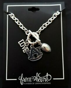 Auburn Tigers Touchdown Bracelet with Love Football Charms