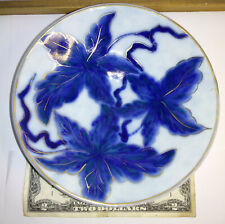Old Camille Tharaud Limoges ceramic glazed porcelain signed plate center piece