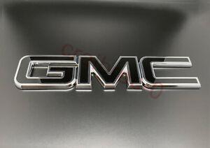 Black Chrome Tailgate Rear Emblem Badge GMC Canyon Sierra 1500 2500HD 3500HD