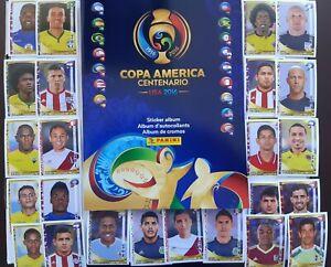 PANINI 2016 COPA AMERICA STARTER PACK ALBUM + 100 ASSORTED STICKER NO DUPLICATES