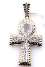 Unisex 10k Gold & Genuine Diamond Onc Pendant .030ct  Retail $1,225!!!