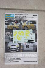Décals 1/43e Mitsubishi Lancer Evo 9 Nombella Rallye de la Suisse Normande 2009