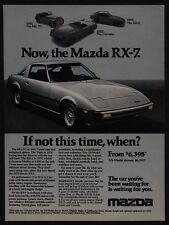 1979 MAZDA RX-7 Silver Sports Car VINTAGE AD