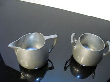 Cream and Sugar marked Insico Pewter 502