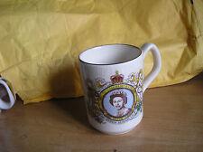 Queens  silver jubilee commemorative coffee cup / mug by SADLER