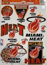 Miami Heat NBA Basketball 11 x 17 Muliple Window Clings by Color Cling