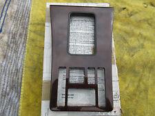 Blende Wurzelnuß Wählhebelumr. 4 x eFH Reiserechner NOS Mercedes-Benz W126 1.Ser
