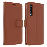 Flip wallet case, slim cover Xiaomi Mi 9 SE, silicone shell - Brown