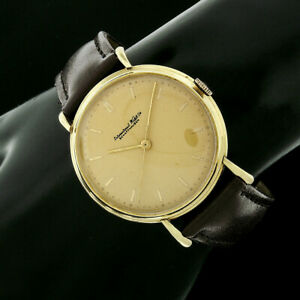 Men's Vintage International IWC 36mm 18k Yellow Gold Wind Up Wrist Watch Cal. 89