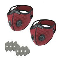 2PCS Bike Face Cover with 6PCS Filter Unisex Outdoors Sports Mouth Cover