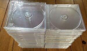 Lot de 51 boîtiers CD transparents