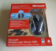Brand New: Microsoft Wireless Laser Mouse 5000 Metallic Black