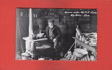 RPPC Big Falls Koochiching County,MN Minn. Minnesota Interior cabin cook stove