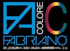 Blocco Facolore (330x480mm) 25fg 220gr 5 colori Fabriano (conf. da 5)