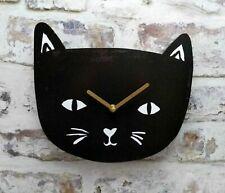 THE CAT LOVERS WALL CLOCK BLACK CAT KITTEN WALL CLOCK QUARTZ