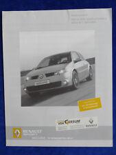 Renault Megane RS Sport Trophy Limited - Preisliste - Prospekt Brochure 04.2005