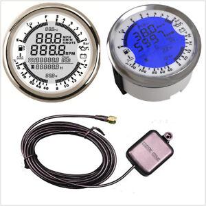 6In1 Waterproof Car Multicolor LED Backlamp 85mm GPS Speedometer Gauge Voltmeter