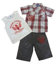 Conjuntos  niño , pantalones cortos y camisa de ZSF,  rojo ,talla 6