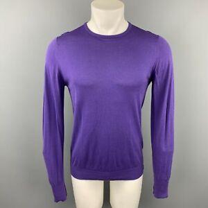 JOHN SMEDLEY Size S Purple Cotton Crew-Neck Pullover Sweater