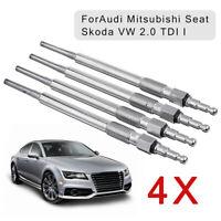 4x Diesel Heater Glow Plugs Fits Audi Mitsubishi Seat Skoda VW 2.0 Di-D TDI
