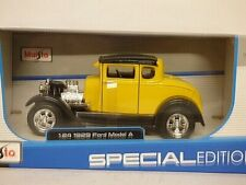 Maisto Ford Model A Deuce hot rod yellow 1/24th scale